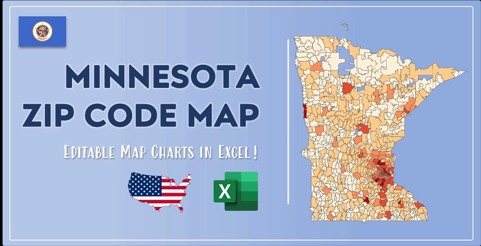 Minnesota Zip Code Map Post Cover
