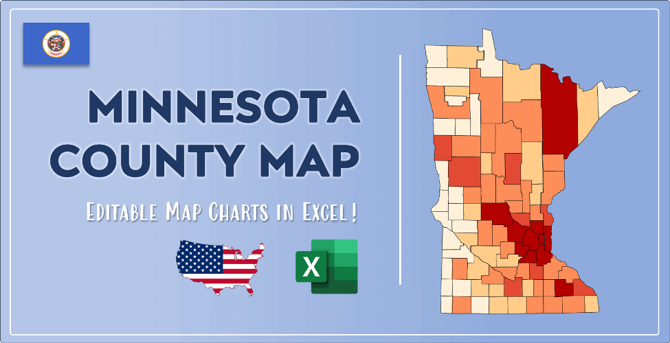 Minnesota County Map Post Cover