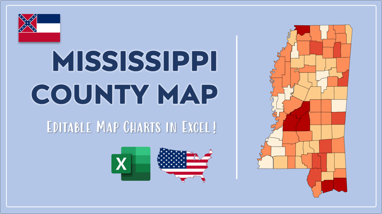 How to Paint Mississippi Counties Map Video Cover Image