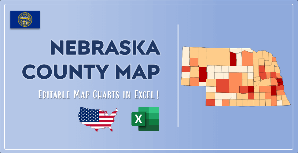 Nebraska County Map Post Cover