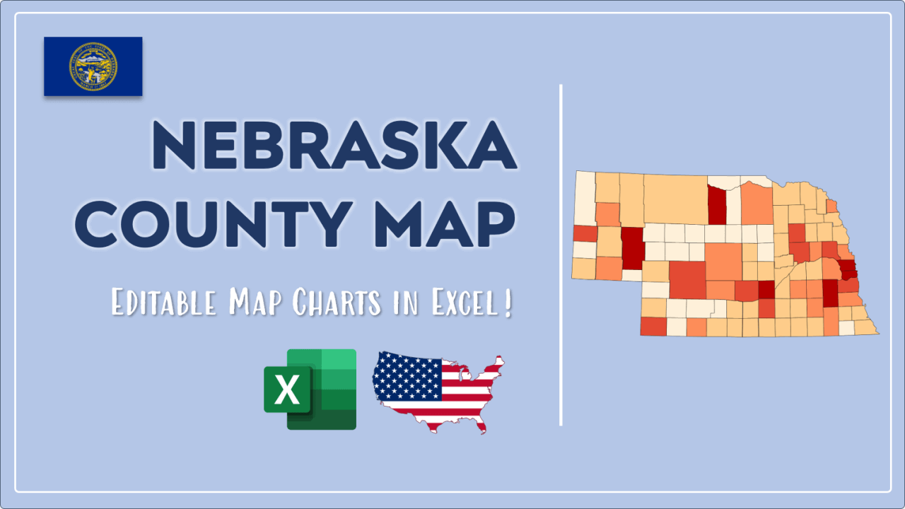 How to Paint Nebraska Counties Map Video Cover Image