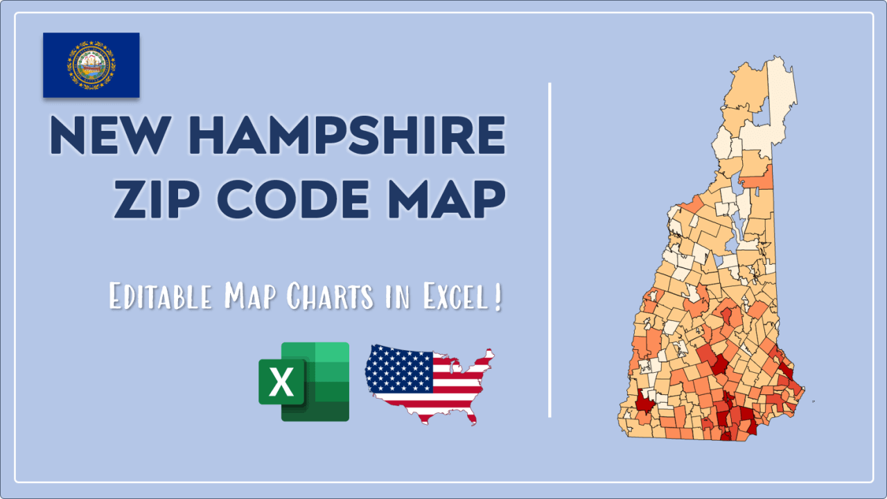 How to Paint New Hampshire Zip Codes Map Video Cover Image