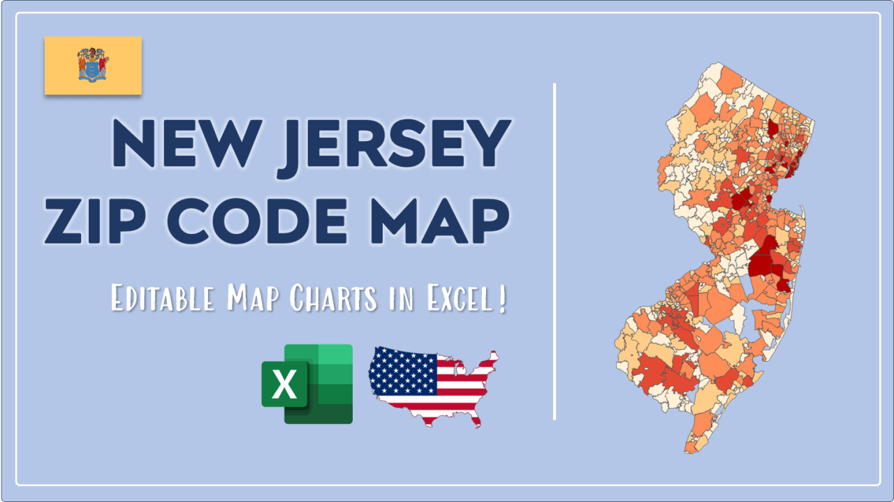 How to Paint New Jersey Zip Codes Map Video Cover Image