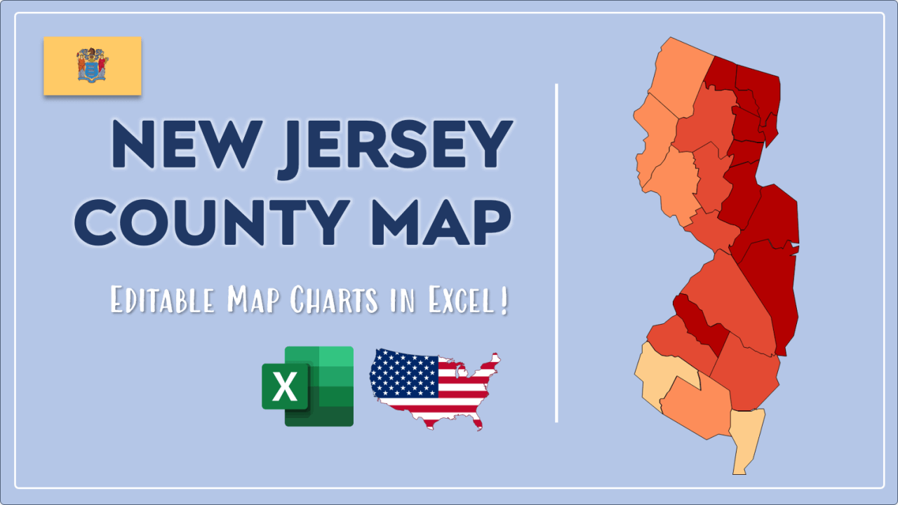 How to Paint New Jersey Counties Map Video Cover Image