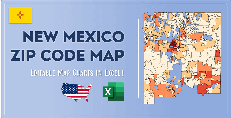 New Mexico Zip Code Map Post Cover
