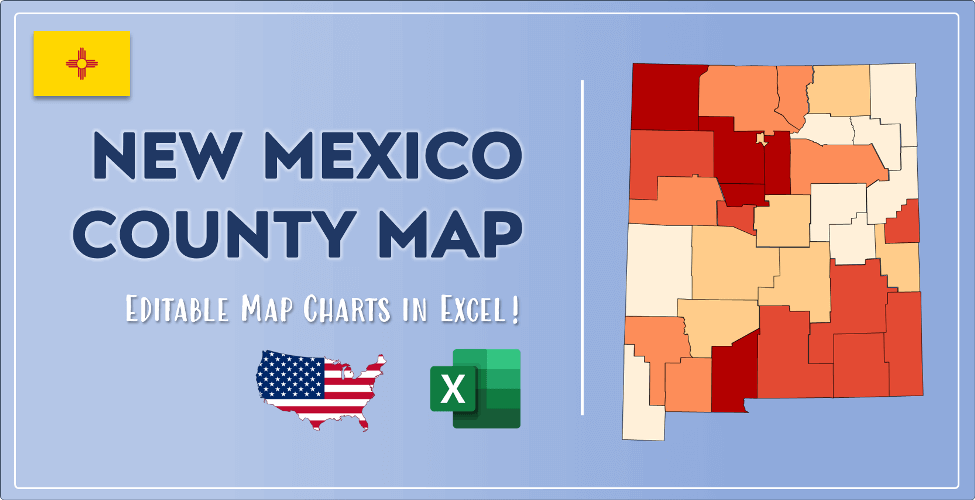 New Mexico County Map Post Cover