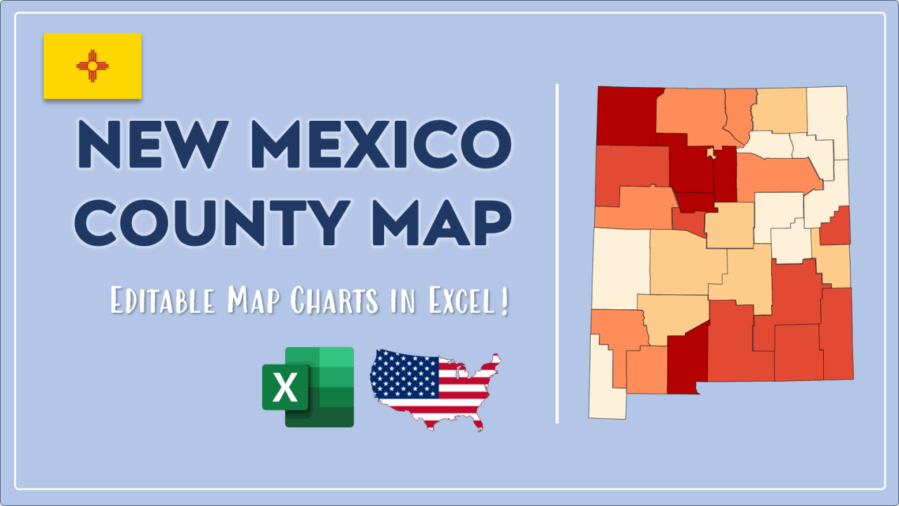 How to Paint New Mexico Counties Map Video Cover Image