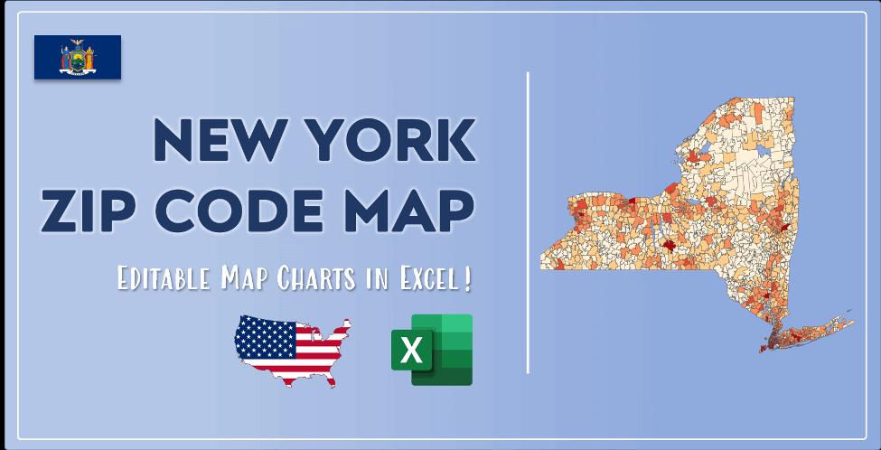 New York Zip Code Map Post Cover