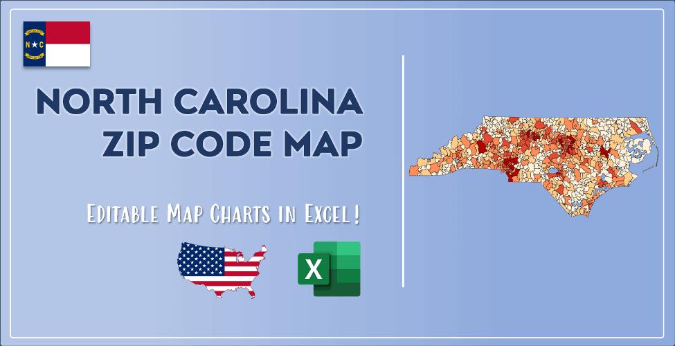 North Carolina Zip Code Map Post Cover