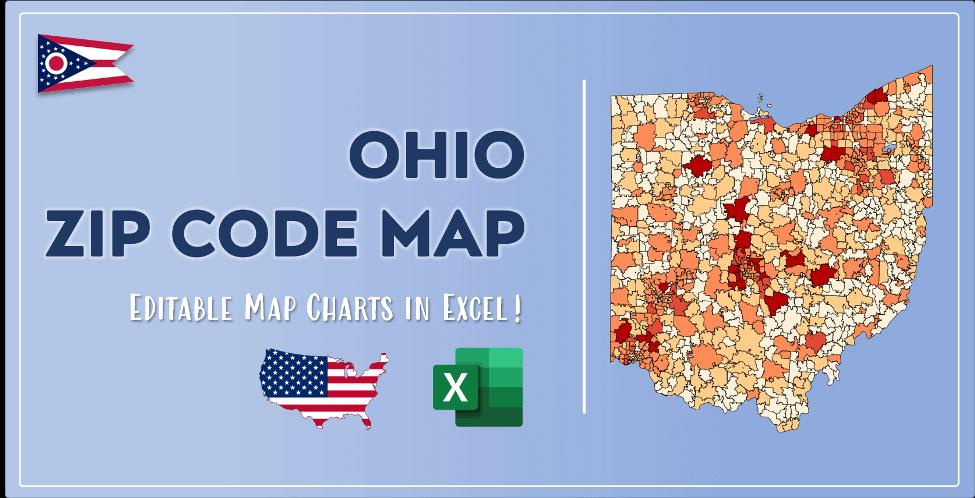 Ohio Zip Code Map Post Cover