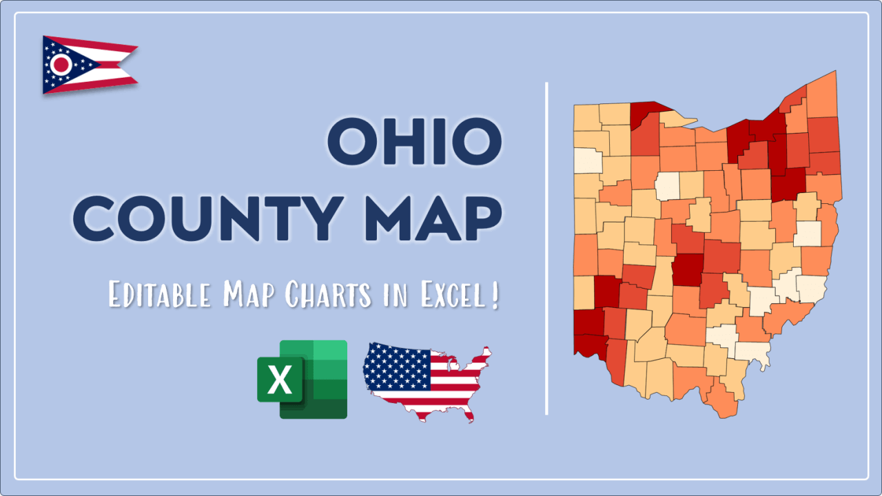 How to Paint Ohio Counties Map Video Cover Image