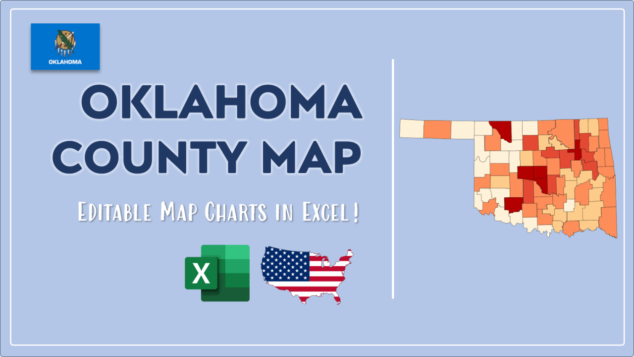 How to Paint Oklahoma Counties Map Video Cover Image
