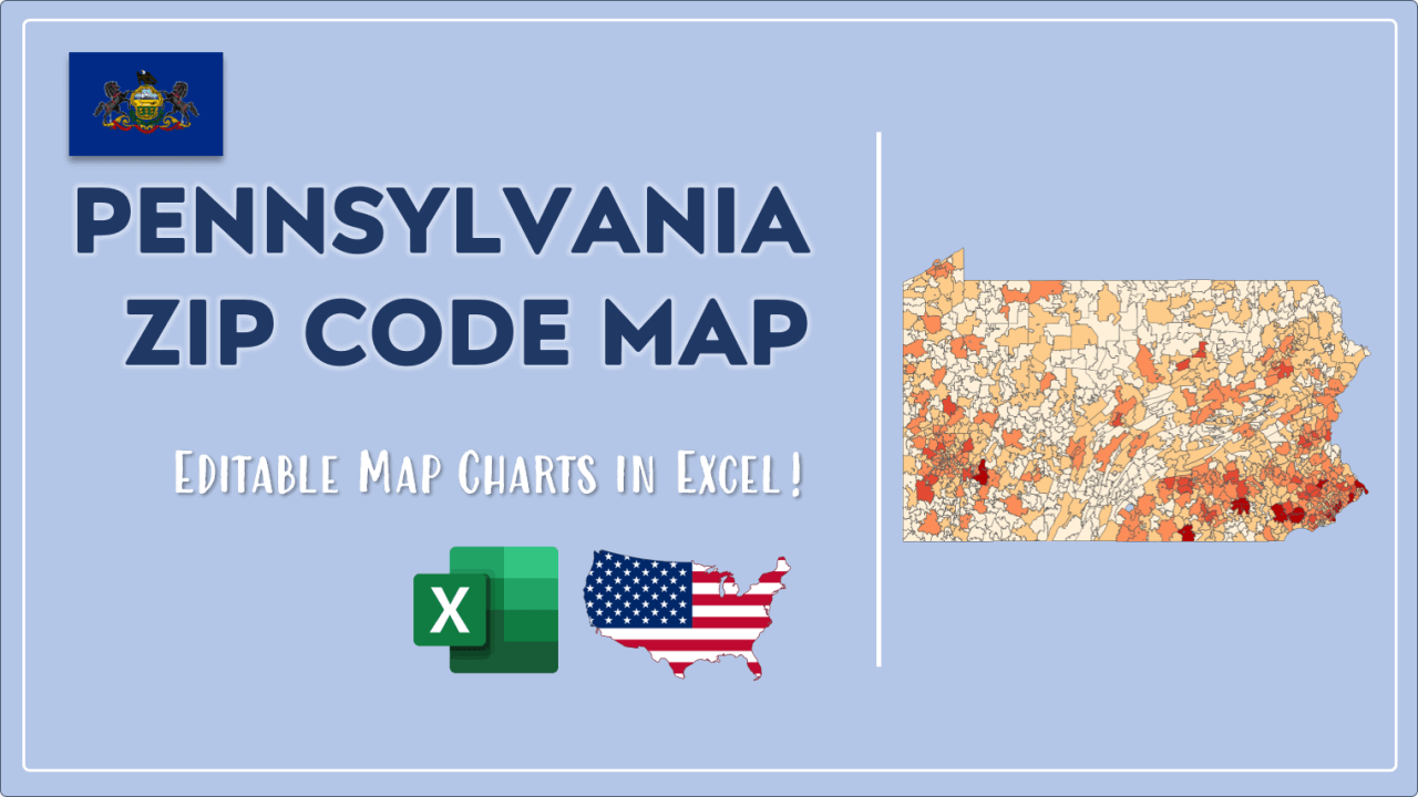 How to Paint Pennsylvania Zip Codes Map Video Cover Image