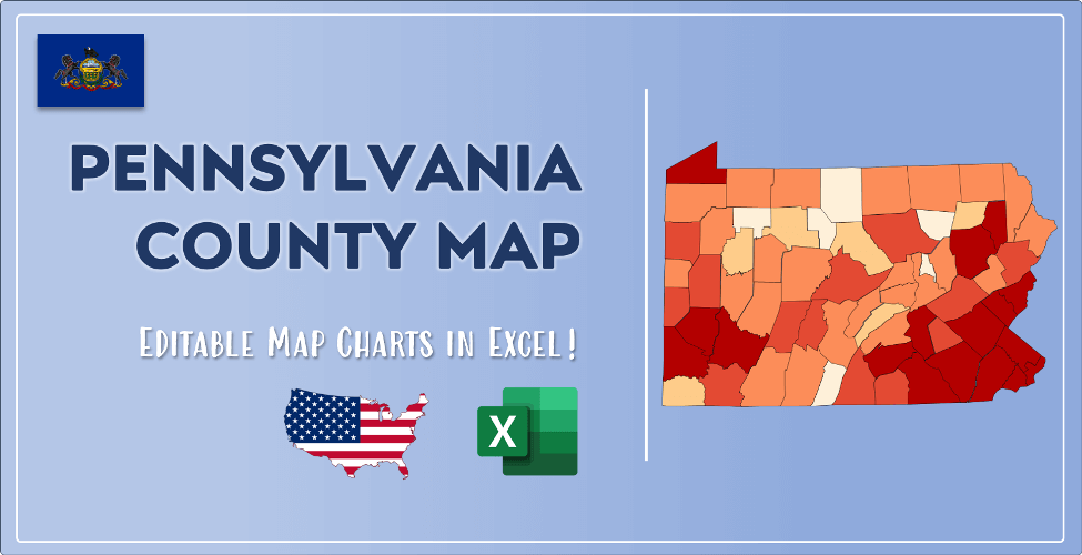 Pennsylvania County Map Post Cover