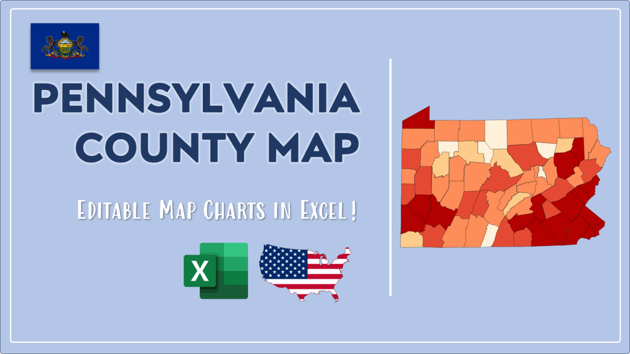 How to Paint Pennsylvania Counties Map Video Cover Image