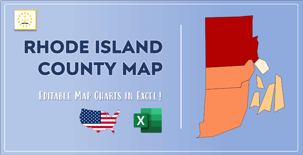Rhode Island County Map Post Cover