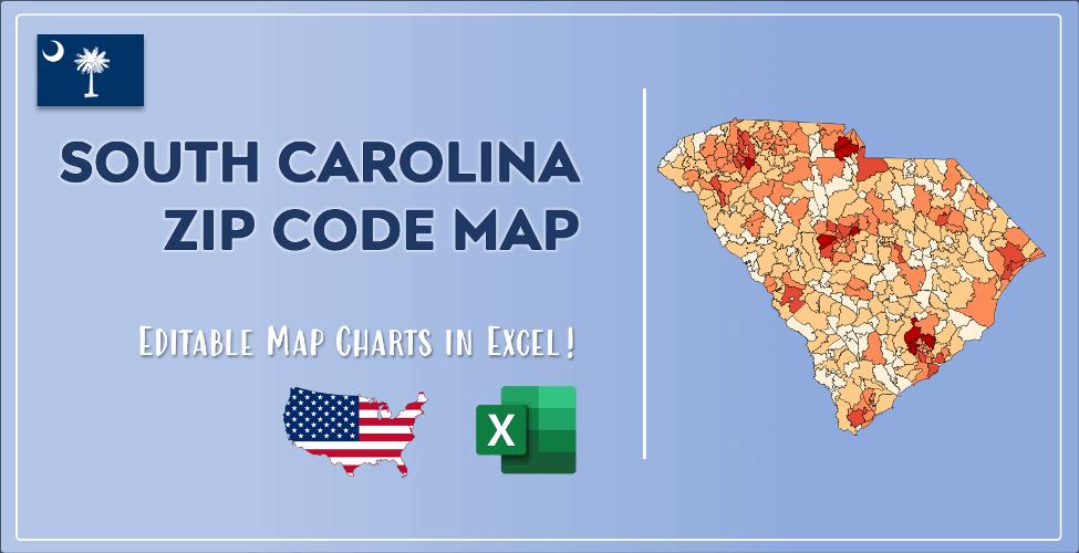 South Carolina Zip Code Map Post Cover