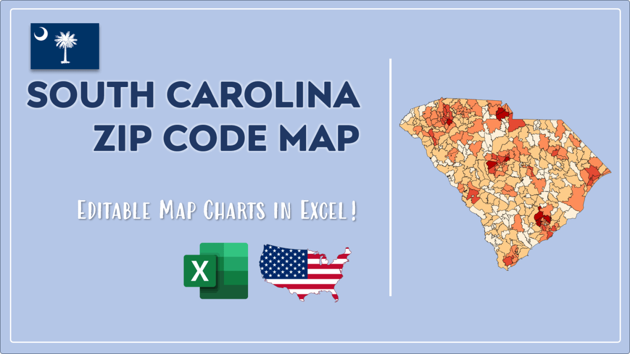 How to Paint South Carolina Zip Codes Map Video Cover Image