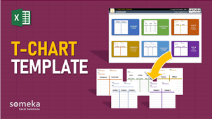T-Chart Template - Someka Excel Template Video