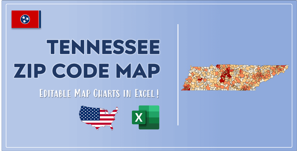 Tennessee Zip Code Map Post Cover