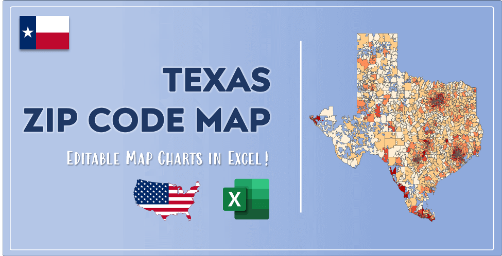 Texas Zip Code Map Post Cover