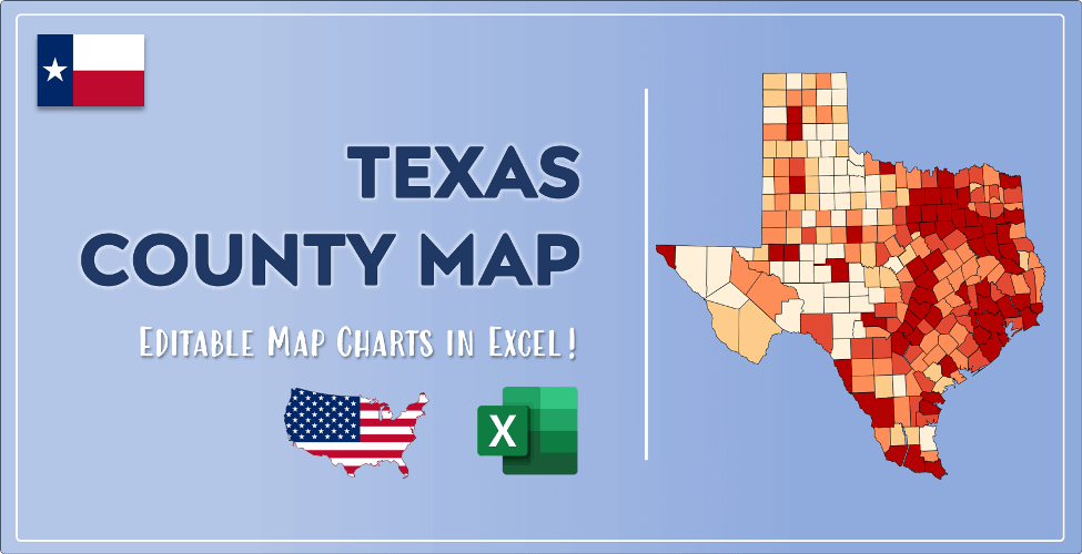 Texas County Map Post Cover