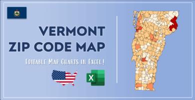 Vermont Zip Code Map Post Cover