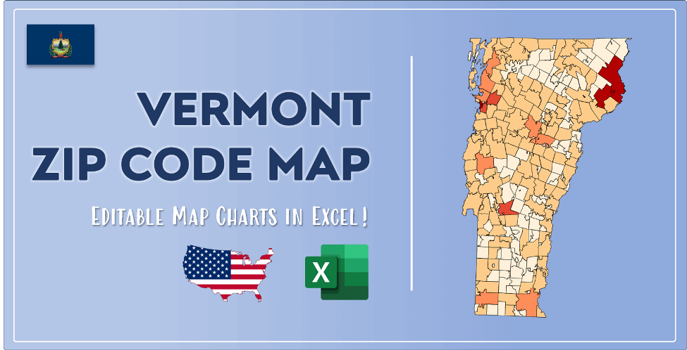 Vermont Zip Code Map Post Cover