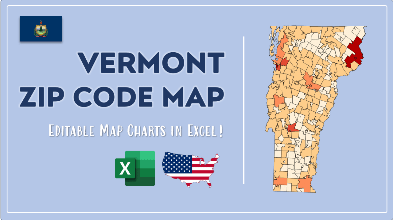 How to Paint Vermont Zip Codes Map Video Cover Image