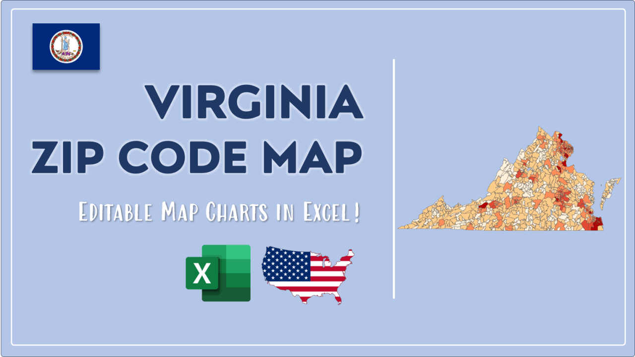 How to Paint Virginia Zip Codes Map Video Cover Image