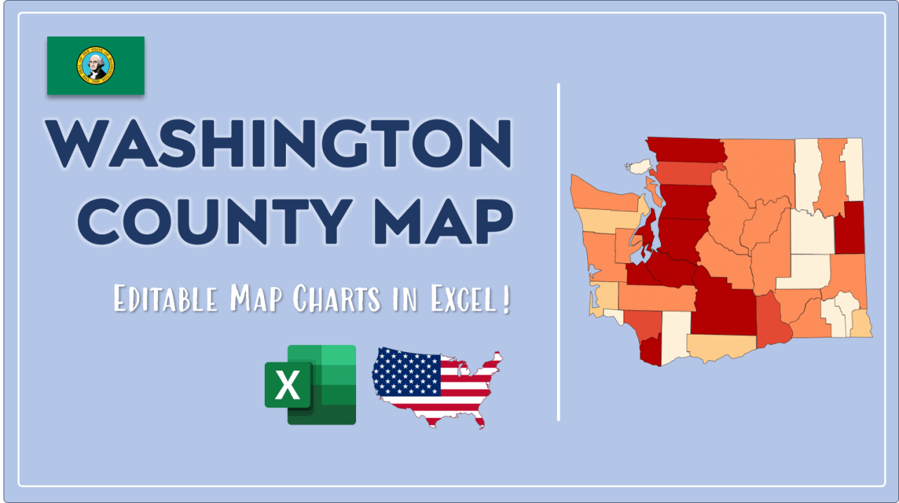 How to Paint Washington Counties Map Video Cover Image
