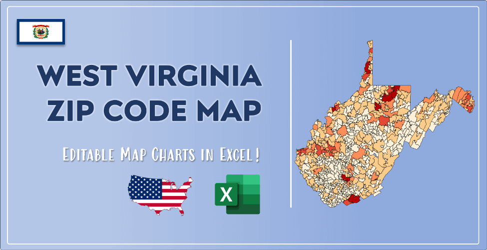 West Virginia Zip Code Map Post Cover