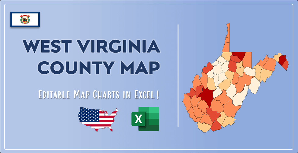 West Virginia County Map Post Cover