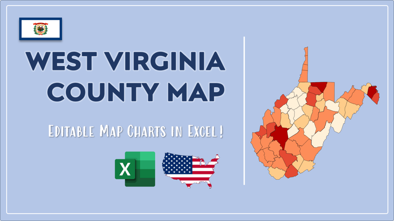 How to Paint West Virginia Counties Map Video Cover Image