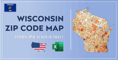 Wisconsin Zip Code Map Post Cover