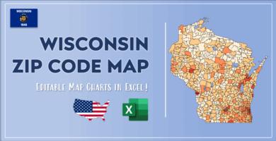 Wisconsin Zip Code Map Post Cover