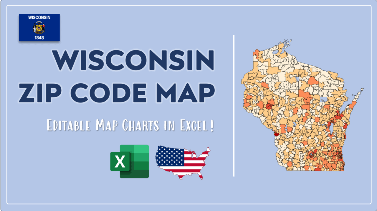 How to Paint Wisconsin Zip Codes Map Video Cover Image