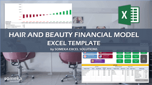 Hair and Beauty Salon Financial Model - Someka Excel Template Video