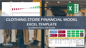 Clothing Store Financial Model Template - Someka Excel Template Video