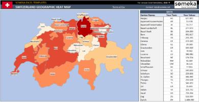 Switzerland Geographic Heat Map Generator