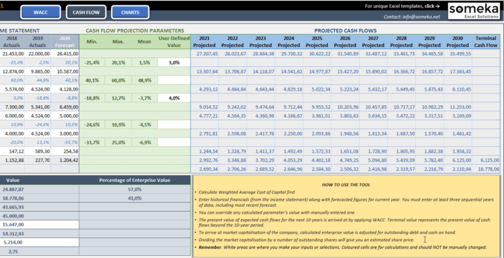 Discounted-Cash-Flow-Excel-Template-Someka-SS4