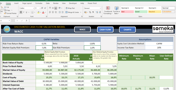 Discounted-Cash-Flow-Excel-Template-Someka-SS6