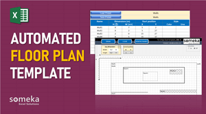 Automated Floor Plan Template - Someka Excel Template Video