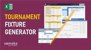 Tournament Fixture Generator - Someka Excel Template Video