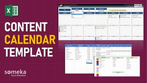 Content Calendar Template - Someka Excel Template Video