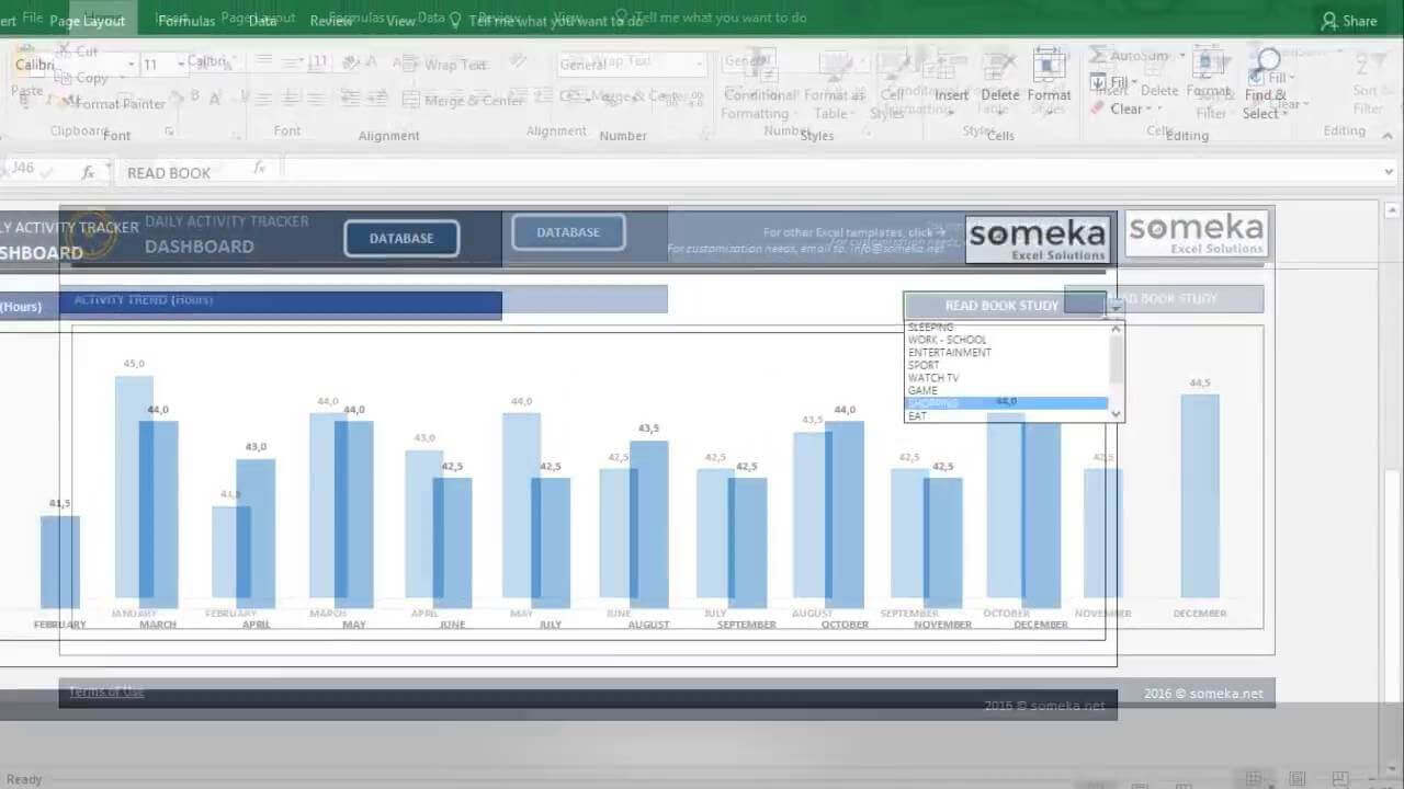 Daily Activity Tracker - Someka Excel Template Video