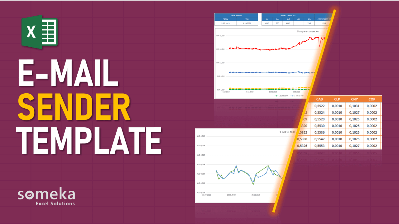 E-Mail Sender Template - Someka Excel Template Video