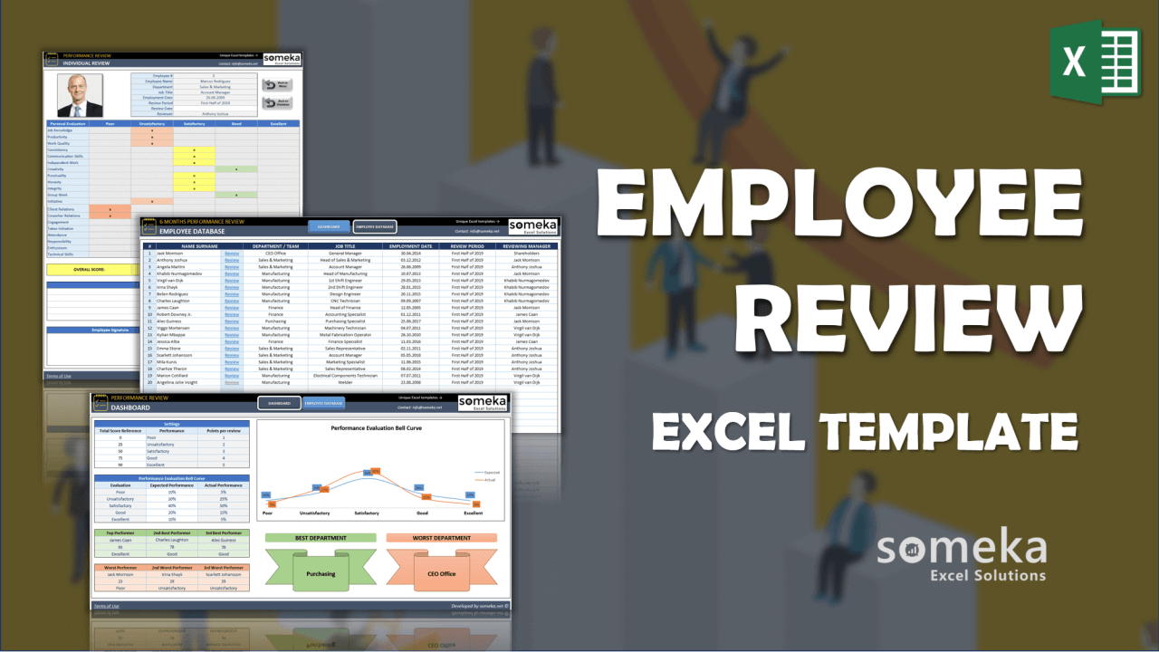 Employee Review Template - Someka Excel Template Video