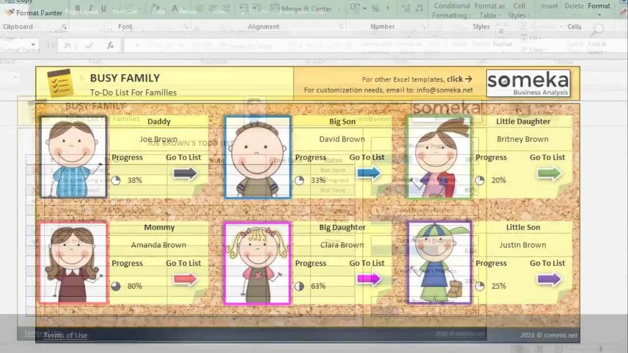 Family To Do List - Someka Excel Template Video