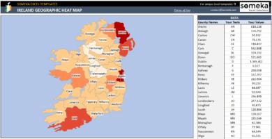 Ireland Geographic Heat Map Generator